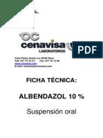Ficha Tecnica Albendazol 10