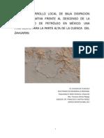 El Desarrollo Local de Baja Disipacion Como Alternativa Frente Al Descenso de La Disponibilidad de Petróleo en México-Una Propuesta Para La Parte Alta de La Cuenca Del Zahuapan