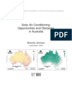 Solar Air Conditioning - Opportunities and Obstacles for Australia - 2005