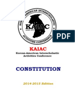 Kaiac Constitution & By-laws 2014-15