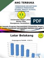 Evaluasi Pendidikan Kecantikan Pada Lembaga Pendidikan International Beauty School Puspitamartha