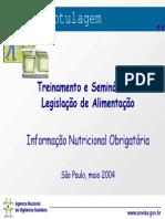 Rotulagem Nutricional - Treinamento e Seminário Em Legislação de Alimentação
