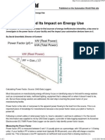Power Factor and Its Impact on Energy Use
