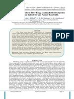 Optimization of Uniform Fiber Bragg Grating Reflection Spectra for Maximum Reflectivity and Narrow Bandwidth