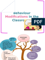 Behaviour Modifications