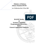 Minstry-Of-Defence Control System HAZOP