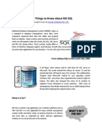Five Things to Know about MS SQL