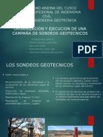 ORGANIZACIÓN Y EJECUCIÓN DE UNA CAMPAÑA DE SONDEOS GEOTÉCNICOS