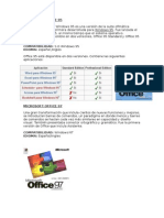 Aplicativos de Microsoft Office