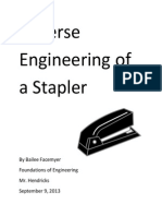 reverse engineering of a stapler