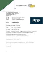 2.Format Surat Pernyataan Penggantian Kartu