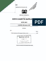 Constituencies Development Fund Act No 30 of 2013