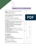 5th Schedule Disclosure Checklist