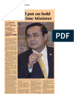 21st Round Put on Hold by Thai Prime Minister_Upstream