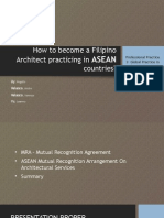 How to be a Filipino Architect practicing in the ASEAN countries?