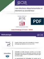 Rapport de force aux élections départementales et comportement au second tour