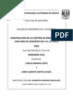 Construcción de La Cortina ECC Del P.H. La Yesca