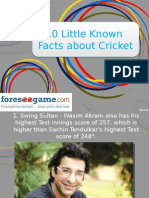 10 Lesser Known Facts of Cricket