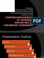 Comprehensiveness of Internet Reporting by Caribbean Companies
