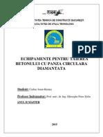 Echipamente Pentru Tăierea Betonului Cu Pânză Circulară Diamantată - Ciubuc Ionut-Remus