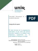 Trabajo de Fin de Máster de Formación del profesorado de Secundaria. UNIR