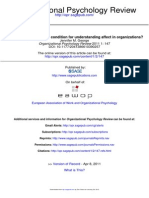 Understanding Affect in Organizations