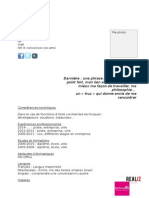 CV Modèle vierge 2015 / 2016