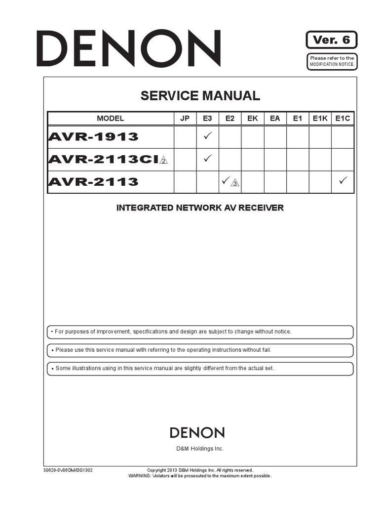 Denon AVR-2113 pdf | Electrical Connector | Insulator (Electricity)