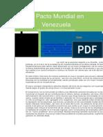 El Pacto Mundial en Venezuela