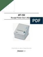 Maxatec MT-150 User Manual