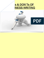 DO'S & DONT'S OF BUSINESS WRITING.ppt