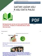 Jasa Pembuatan Ijazah Asli Terdaftar Asli Data Palsu