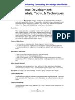 Linux Development Fundamentals, Tools, & Techniques Training