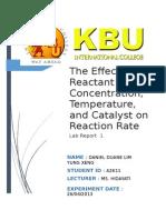 Chemistry Lab Report 1