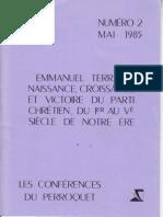 Terray Emmanuel Naissance Croissance Et Victoire Du Parti Chretien