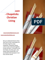 Object Lesson - Chopsticks Christian Living