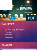 MS WORD 2010 - The Review Tab