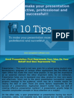10 tips to make your presentation more effective professional and successful