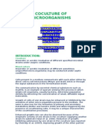 COCULTURE OF MICROORGANISMS