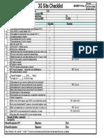 3G Checklist
