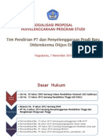 Sosialisasi Proposal Pembukaan Prodi EDIT LS