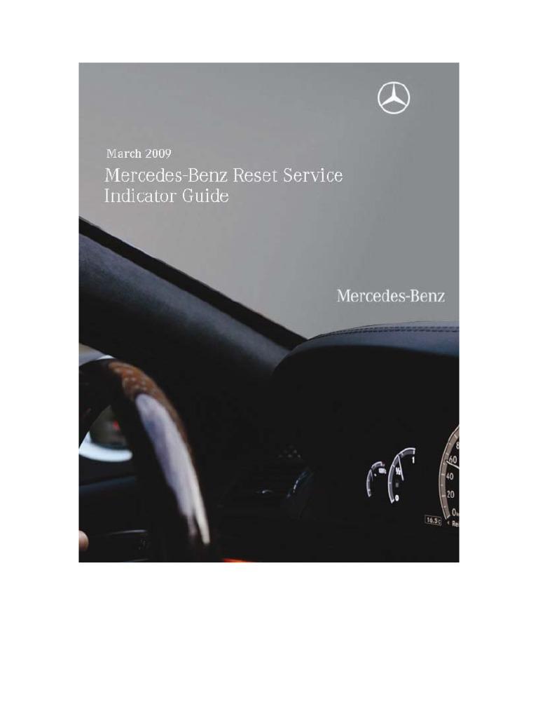 march 2009 mercedes benz reset service indicator guide mercedes rh scribd com SL63 2009 Radio 2009 SL63 AMG Specs