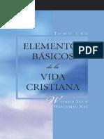 Elementos Básicos de la vida Cristiana vol 1
