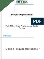 Aula1-Definição e Evolução Da Pesquisa Operacional