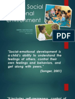 EDU3063 - Managing the socio emotional environment