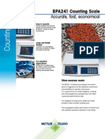Datasheet BPA241 Counting Scale for Mettler Toledo