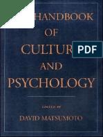 David Matsumoto-The Handbook of Culture and Psychology (2001)