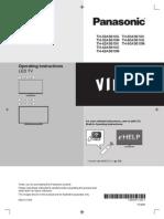 Panasonic VIERA TH-32AS610 English Manual