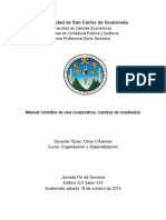 Trabajo Manual Contable de Una Cooperativa Resultados Presentación