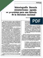 La historiografía literaria hispanoamericana